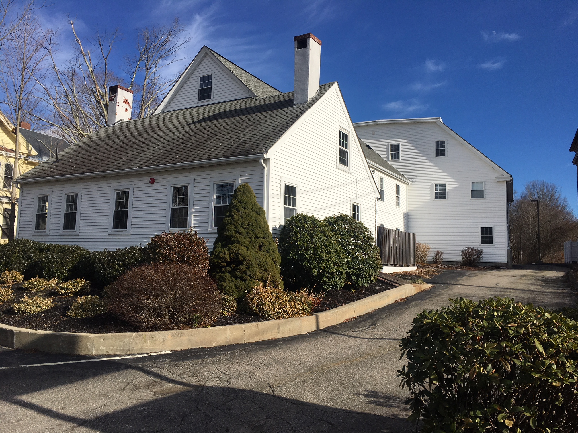 Here's the entrance to our office at 175 N Franklin St, Holbrook, MA