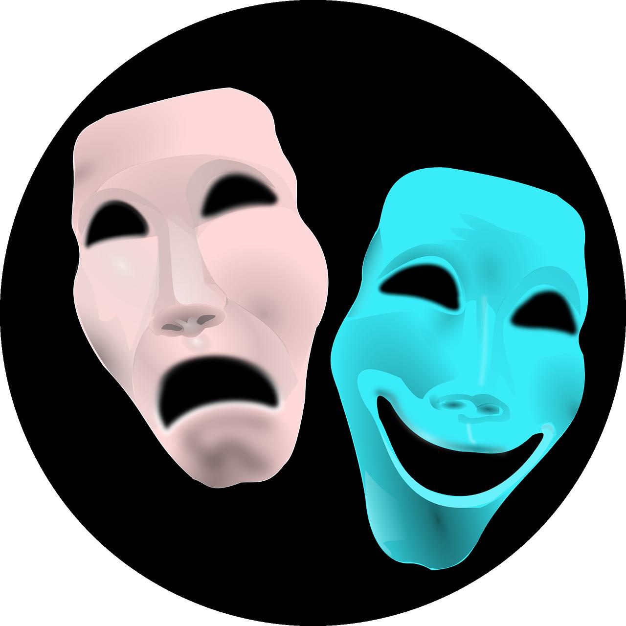 bipolar disorder comedy tragedy masks
